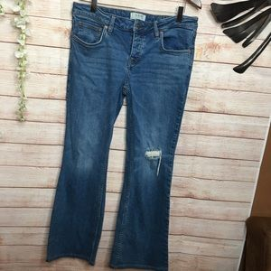 We The Free boot cut distressed knee jeans 30